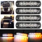 Best Strobe Lights - 4X Amber/White 6LED Car Truck Emergency Beacon Warning Review
