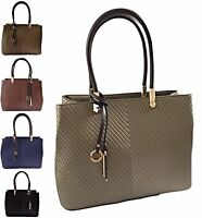 Women's New Leather Style Shoulder Bag Ladies Office Handbag Celebrity Tote Bag