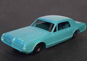 "F&F Mold & Die Works 1967 ""MERCURY COUGER PLASTIC CAR"" Cereal Premium BLUE XLNT."
