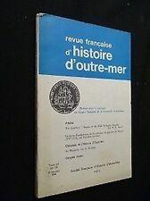 Revista historia d'outre-mer, tomo LV, nº199, 2e cuarto 1968