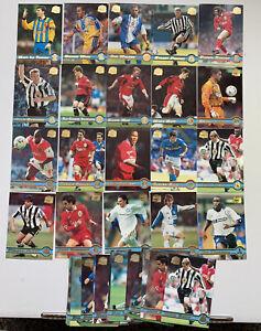 36x 1998 TOPPS MERLIN PREMIER GOLD FOOTBALL SOCCER TRADING CARDS SHEARER OLE