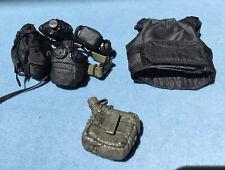 "Blue Box Bullet Proof Vest With Equipment Belt For 12"" Action Figure"