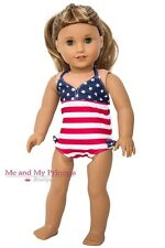 PATRIOTIC STARS & STRIPES SWIMSUIT Bathing Suit for American Girl Doll Clothes