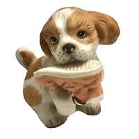 Puppy Dog Figurine Cocker Spaniel With Shoe Homco
