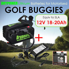 Drypower 12V 16Ah Lithium LiFeO4 Electric Golf Buggies Battery Charger Kit