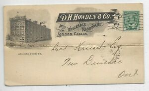 Advertising Private Post Card D. H. HOWDEN and CO., London, Ontario  Circa 1907