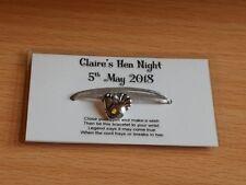 Job Lot - TEN Wish Bracelets - HEN NIGHT - Choice of Coloured Cord - Hen Charm
