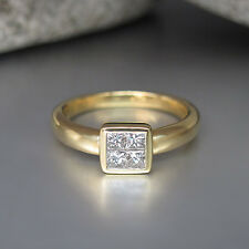Ring mit ca. 0,40ct Diamant W-si in 750/18K Gelbgold