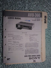 Sony avu-360 service manual original repair book av selector control center