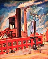 Factory  :  Todros Geller  :   Archival Quality Art Print