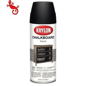 Krylon Flat Black Chalkboard Spray Paint One step, easy application