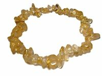 "Citrine Gemstone Chip Crystal Healing Bracelet "" Money Stone"""