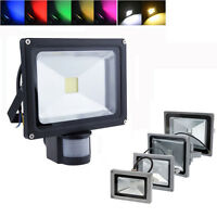 LED Floodlight 10/20/30/50/100W PIR Motion Security Flood Light Warm Cool IP65