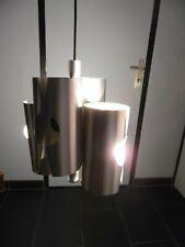 Lampe Lustre Suspension Alu Brossé Design Max Sauze Annés 70's Space Age Sputnik