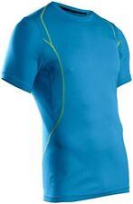 SUGOI Titan Shirt Mens Large Blue Short Sleeve Run Bike Athletic Gym Workout
