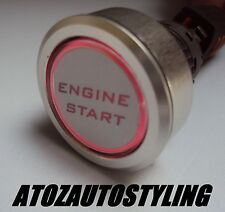 Car Engine Start Push Button 12V Ignition Starter Switch 'RED LED'  MADE IN UK