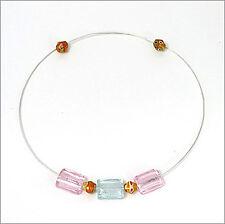 Halschmuck aus Silberdraht und  Perlen aus Glas NEU