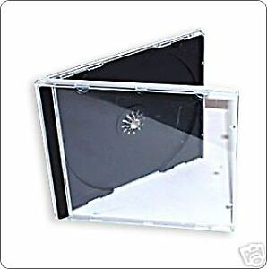 25 CD JEWEL CASES COMPLETE WITH BLACK TRAYS / GRADE A - 10.4 mm SPINE - NEW