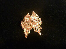 GOLD PLATED 22K  EARRINGS INDIAN BOLLYWOOD WEDDING DESIGN