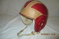 Vintage 1930'S Hutch H-18 Large Leather Football Helmet w./Strap