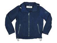 Burberry London Mens Packaway Hood Wind Breaker Zip Jacket Rain Coat Navy