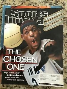 February 18, 2002 LeBron James High School RC First Sports Illustrated