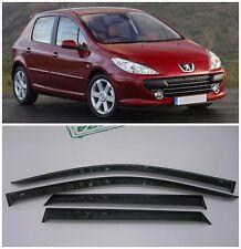 For Peugeot 307 Sd/Hb 2002-2008 Side Window Visors Rain Guard Vent Deflectors