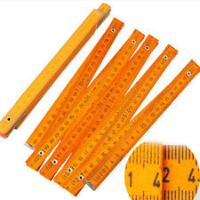 Surveyors Wooden Yard Rod Folding Ruler Wood Carpenter Metric Measuring Tool New