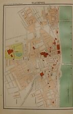 1898 LARGE VICTORIAN TOWN PLAN : BLACKPOOL AND SHEFFIELD, 2 IMAGES