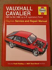 Vauxhall Cavalier Mk2 1981 - 1988 Haynes Workshop Manual **Free P&P**