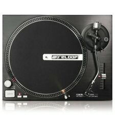 Reloop RP-2000 USB Record player By DJ Traction Live with Needle Reloop OM Black