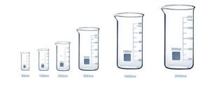 Borosilicate Glass Beakers Laboratory Glassware Beaker Sets Boro 3.3 Tall Form