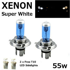 H4 60/55w SUPER WHITE XENON 472 HID LOOK Headlight Bulbs 12v ROAD LEGAL UK EU F