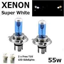 H4 60/55w SUPER WHITE XENON 472 HID LOOK Headlight Bulbs 12v ROAD LEGAL UK EU F