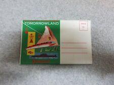 Early 1960's Disneyland TOMORROW LAND  POSTCARD BOOKLET 12 Views Unused Perfect