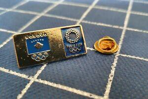 Pin badge KOSOVO Kosova NOC National Olympic committee Games Tokyo 2020 rare
