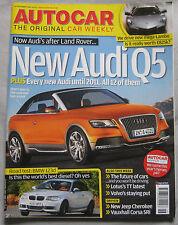 Autocar magazine 14/11/2007 featuring Lamborghini Reventon, Audi Q5, BMW