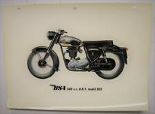 BSA MODEL B33 500cc Motorcycle Colour Plate c1955