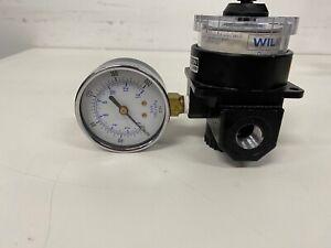 "Wilkerson R21-03-000 A09 Dial-Air Regulator w/ Gauge 1/2"" NPT 300PSI"