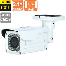 Metal Outdoor  Bullet IP Camera Sony CMOS 2.8-12mm HD 1080p 2.1 MP POE 42led's