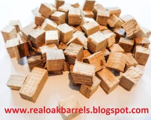 Oak Cubes,Oak Chunks,Chips for Aging Home-brew Beer,Wine,Whiskey,Light  Toast