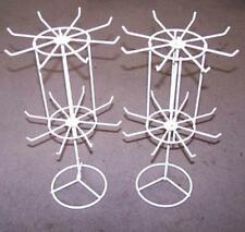 2 SPINNING JEWELRY DISPLAY RACK 16 IN WHITE counter racks displays showroom