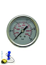 Pressure Washer Pressure Gauge 0-250 Bar 3600 Psi S/S Body Glycerine Filled