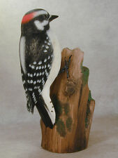 Downy Woodpecker Orig Carving--Hummingbird Studio