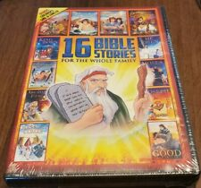 16 Bible Stories for the Whole Family DVD's w/ Bonus CD ~ New Sealed ~ lot t420