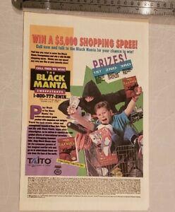 Wrath Of The Black Manta Shopping Spree Nintendo Print RARE Advertisement