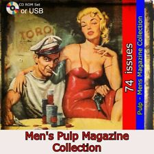 Men's pulp fiction pack, War , spies, women and more stories   74 issues