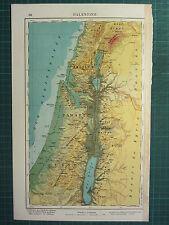 1921 MAP ~ Palestina ~ Giudea Samaria GALILEA
