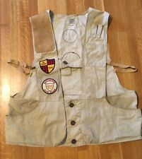 Vtg Trap Shooting Hunting Vest + Patches 1962 NRA Winchester Gun Club Federal