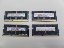 Lot of 4 - Hynix HMT351S6BFR8C-H9 4GB PC3-10600 DDR3-1333 Laptop Memory Module